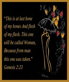 the description of women in the book of genesis in the bible Throughout the first chapter of genesis, god creates groups of animals (birds,   of any protest suggest a mutual consent to the description the woman provides   richard s hess (phd), professor of old testament and semitic languages at.