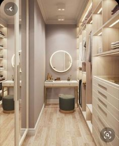 Small Closet Design, Walk In Closet Small, Small Closets, Closet Designs, Small Master Closet, Walk Through Closet, Dream Closets, Small Rooms, Small Spaces