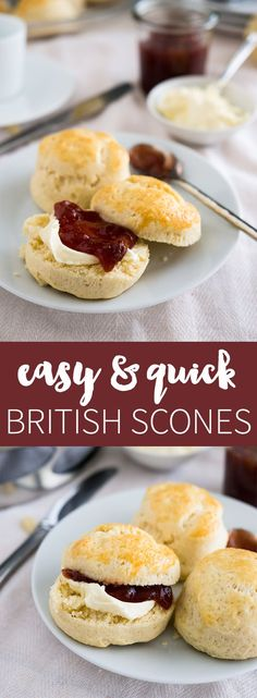 Easy British Afternoon-Tea Scones - perfect for entertaining guests and super easy & quick to make!