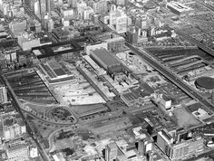 Aerial View of Johannesburg Railway Station From the North Johannesburg City, My Family History, Historical Pictures, African History, Aerial View, South Africa, Landscape Photography, City Photo, World