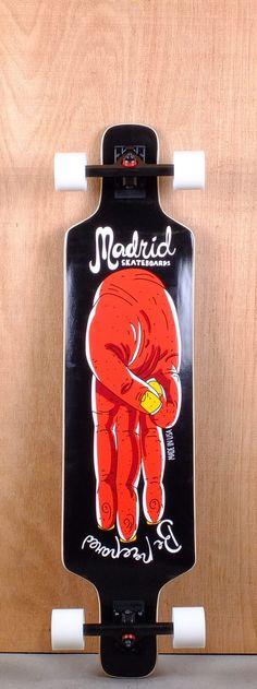 "Madrid 41"" Salute D.T.F. 2 Top Mount Longboard"