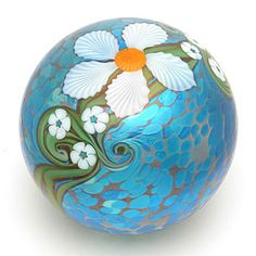 Blue Mystic Floral Paperweight - Cathy Richardson