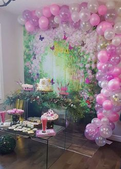 """Enchanted forest / Birthday """"Jana's first fairy birthday """" Garden Birthday, Fairy Birthday Party, Birthday Backdrop, Birthday Party Decorations, Birthday Parties, Enchanted Forest Party, Party Ideas, Tinkerbell, Blond"""