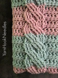 Crochet Cable Blanket with FREE Pattern! - YarnHookNeedles