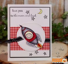 Gina K. Designs: Stamp set - Half Pint Hero's   By: Claire Brennan Pure Luxury Card Stock,  Pattern Paper - Cold Snap Made For: Gina K. Designs  By: Karen Hightower Available @ http://www.shop.ginakdesigns.com