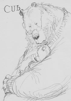 Cub by Chris Riddell, via artist's Facebook page
