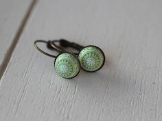 Ohrhänger - Süsse Ohrhänger Mosaik grün - ein Designerstück von Lieblingsstuecke_by_Emma bei DaWanda