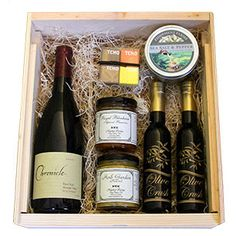 High quality wine gift baskets by Uncorked Ventures. Where you won't find the same, old, tired gift basket choices and you will find great packaging and locally sourced products. Wine Glass Rack, Wine Rack Wall, Catering Food Displays, Wine Merchant, Wine Gift Baskets, Wine Wednesday, Shipping Boxes, Cheap Wine, Starbucks Recipes