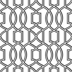 Nu 18 X 205 Uptown Trellis Black White Peel And Stick Wallpaper