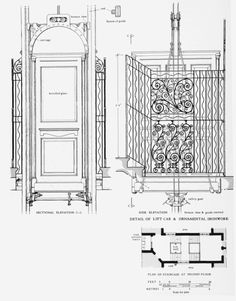 Otis Elevator Company cutaway drawing from the 1950s
