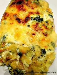 Artichoke Spinach Dip Smothered Chicken Bacon, Butter, Cheese Garlic: Another Smother Artichoke Chicken, Artichoke Spinach, Spinach Dip, Artichoke Dip, Artichoke Hearts, Frozen Spinach, Garlic Spinach, Great Recipes, Dinner Recipes
