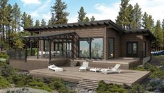 Dream Home Design, House Design, Waterfront Cottage, Contemporary House Plans, Wooden Cabins, Lake Cabins, Modern Barn, Concept Home, Cottage Design
