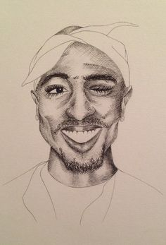 Tupac's music was played today at my friend's funeral. Here's a sketch of an amazing lyricist.