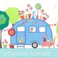 Caroline Rose Art - Folksy