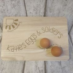 Egg and Soldier board, Egg Cup, Personalised Egg and Soldier Wooden Board, Egg Board, Brekkie Tray, Breakfast Tray, Egg and Toast Board, by Forgetmeknotcrafty on Etsy