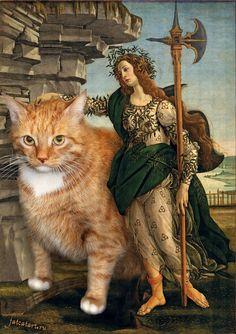Browse the best of our 'Classical Art Memes' image gallery and vote for your favorite! Classical Art Memes, Fat Cats, Cats And Kittens, Fat Kitty, I Love Cats, Crazy Cats, Comic Cat, Memes Arte, Art History