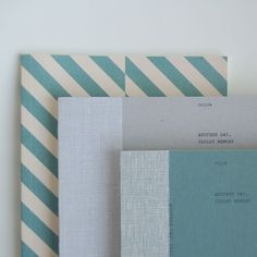 milk & paper - free note s (green) + m (light gray) - white recycled paper