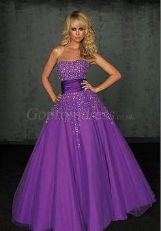 prom dress,prom dresses,prom dress,prom dresses strapless tulle applique long purple prom dress