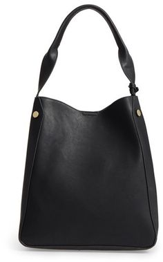 This spacious faux-leather shoulder bag has a minimalist feel thanks to a  streamlined silhouette b1bc93cdf169b