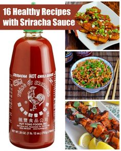 16 Healthy Recipes With Sriracha Sauce - Smile Sandwich Sauce Sriracha, Sriracha Recipes, Spicy Recipes, I Love Food, Good Food, Yummy Food, Clean Eating, Healthy Eating, Cooking Recipes