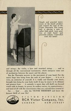 History of Technology: 1930s RCA Victor Theremin Brochure | FTL Design