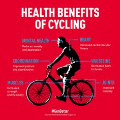 Health Benefits of #Cycling