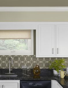 Stenciled Backsplash and so much more!