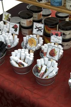 lip balm dispaly in jars at point of sale - Google Search