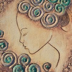 Souznění / Zboží prodejce keramikas | Fler.cz Ceramic Decor, Ceramic Clay, Outline Drawings, Slab Pottery, Hand Art, Sculpture Clay, Clay Art, Wood Carving, Wind Chimes