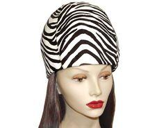 Mod Zebra Hat Emme Calf Fur Vintage 1963 by PearlModern on Etsy, $175.00