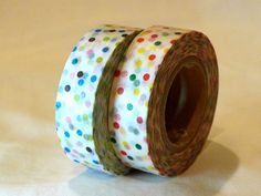 Red+Blue+COLORFUL+Dot+Pattern+Washi+MT+Masking+Tape $4.00