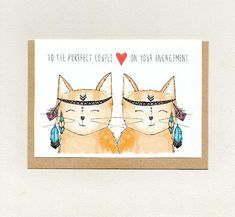 Congratulations to the happy couple greeting card sloth sloths to the purrfect couple on your engagement greeting card cute cat cats m4hsunfo