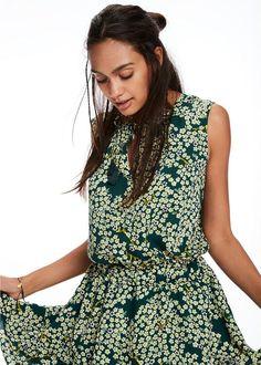 b82640cb45bb Kjole grøn print 136825 Maison Scotch Dress With Tiered Skirt - combo T Scotch  Soda