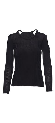 Chaser Thermal Double Cold Shoulder High Low Long Sleeve Tee in Black / Manage Products / Catalog / Magento Admin