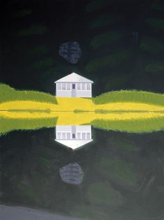 Alex Katz (American, b. 1927), Reflection III, 1992. Oil on canvas, 320 x 244 cm. Museum Frieder Burda, Baden-Baden.