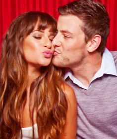 Cory Monteith and Lea Michele at Comic Con 2012 awww! #monchele