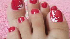 Toenail Art Designs, Pedicure Designs, Pedicure Nail Art, Pretty Toe Nails, Cute Toe Nails, Gel Nails, Toe Nail Color, Toe Nail Art, Edgy Nail Art