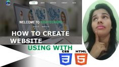 How to create website Hello guys.my name is Pratigya Welcome to my channel About this video- In this video we will see to create a modern beautiful header s. Create Website, Science And Technology, Blog, Blogging