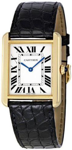 Cartier Women's W5200004 Tank Solo 18kt Yellow Gold Case Watch « Women's Luxury Watches A Timeless Gift