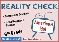 6th grade students use real audience data from their favorite reality TV show to practice calculating with decimals and using integers and absolute value. As data analysts for a station they have to use the data to analyze the consistency of the show's fan base, learning industry vocabulary as well. Common Core Aligned.