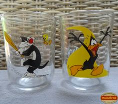 Verre Moutarde ... DAFFY DUCK & GROSMINET