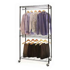 Closet Rods Walmart Closet Organizer Storage Rack Portable Clothes Hanger Home Garment