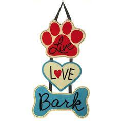 Evergreen Enterprises, Inc Donnetta Live Love Bark Door Hanger & Reviews | Wayfair