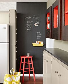 our home :: kitchen tour | best chalkboard walls, chalkboards and