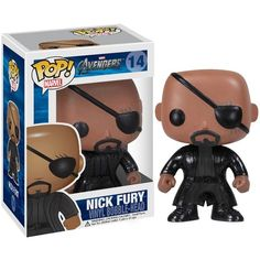 Marvel The Avengers Movie Pop! Vinyl Bobblehead Nick Fury ❤ liked on Polyvore featuring toys and funko