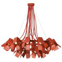 Repurposed photographer's lamps add powerhouse lighting to Thomas Bernstrand Foto lamp.