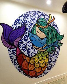 Wall graffiti art colour New Ideas Graffiti Art, Murals Street Art, Mandala Art, Wall Art Designs, Paint Designs, Design Art, Interior Design, Mural Wall Art, Mural Painting