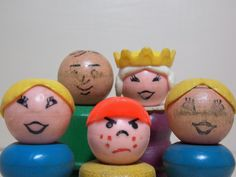 Fisher Price Little People Wood Body 5 Characters by FoundForYou on Etsy