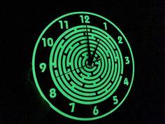 Glow in the dark effect wall clock The Darkest, Lisa, Clock, Wall, Room, Watch, Clocks, Walls