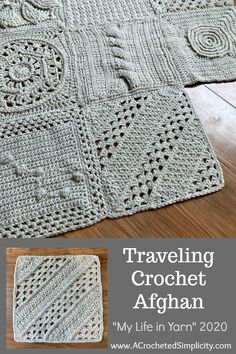 Free Crochet Square, Crochet Squares Afghan, Crochet Granny Square Afghan, Crochet Quilt, Granny Square Crochet Pattern, Afghan Crochet Patterns, Crochet Motif, Crochet Designs, Filet Crochet